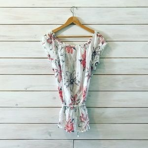 Guess Floral Peasant Blouse
